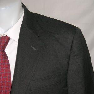 Hickey Freeman Loro Piana  Two Button Suit 42L 36W